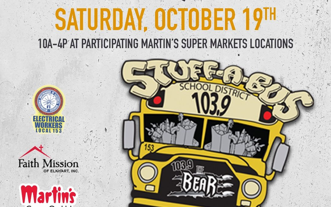 This Saturday is the annual Stuff-A-Bus food drive, from 10 a.m. to 4 p.m. If yo…